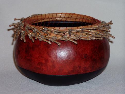 Pine Needle Rim with Beads