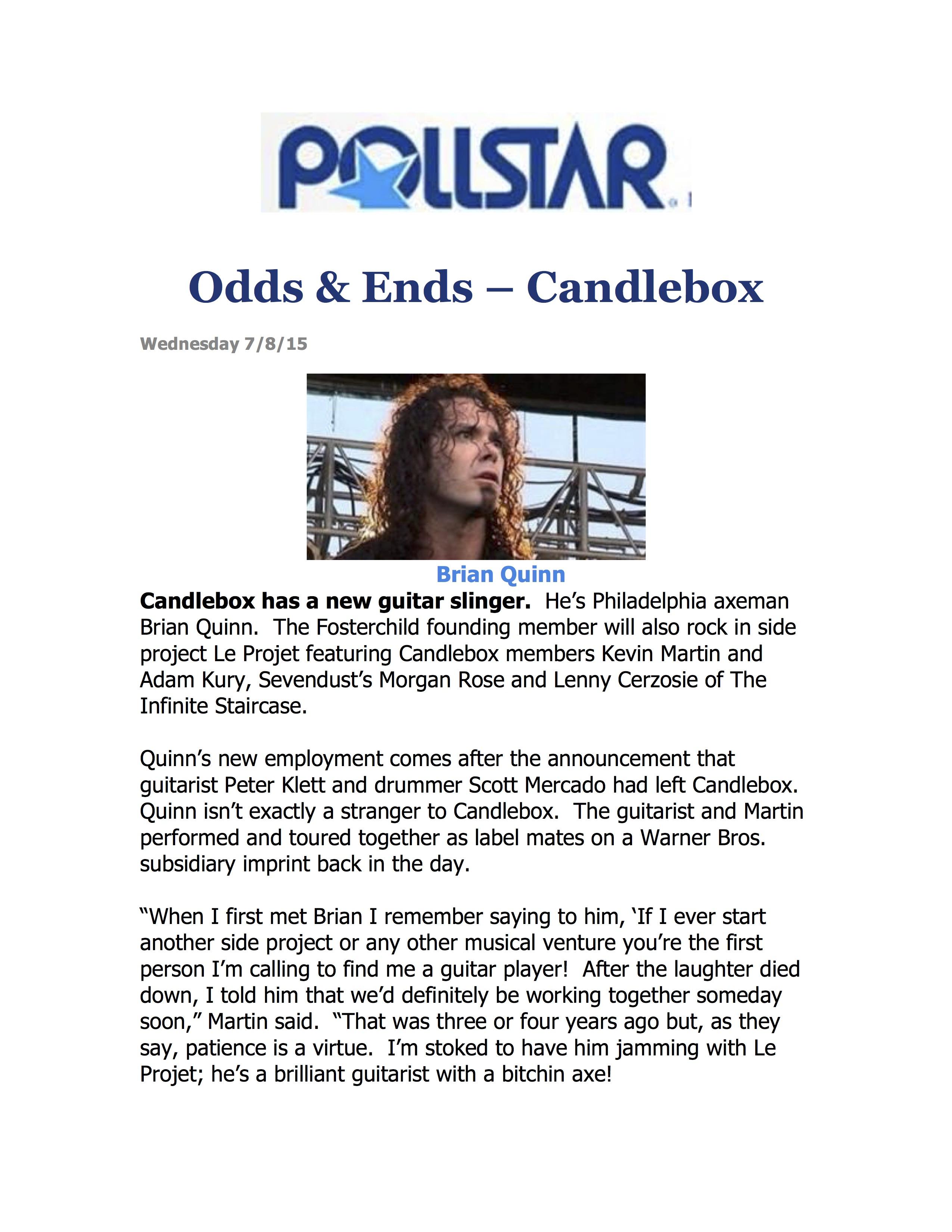 Pollstar LeProjet 2
