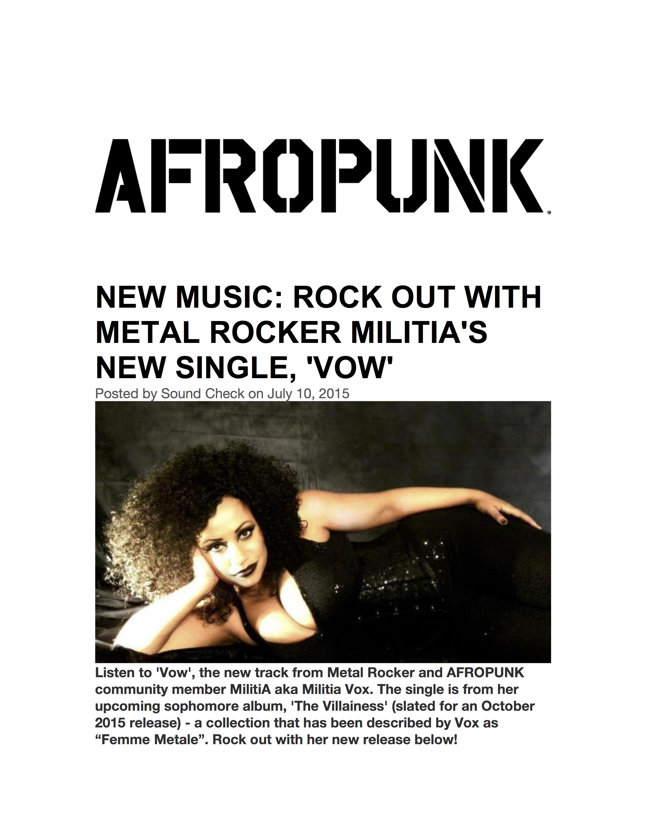 Afropunk MilitiA