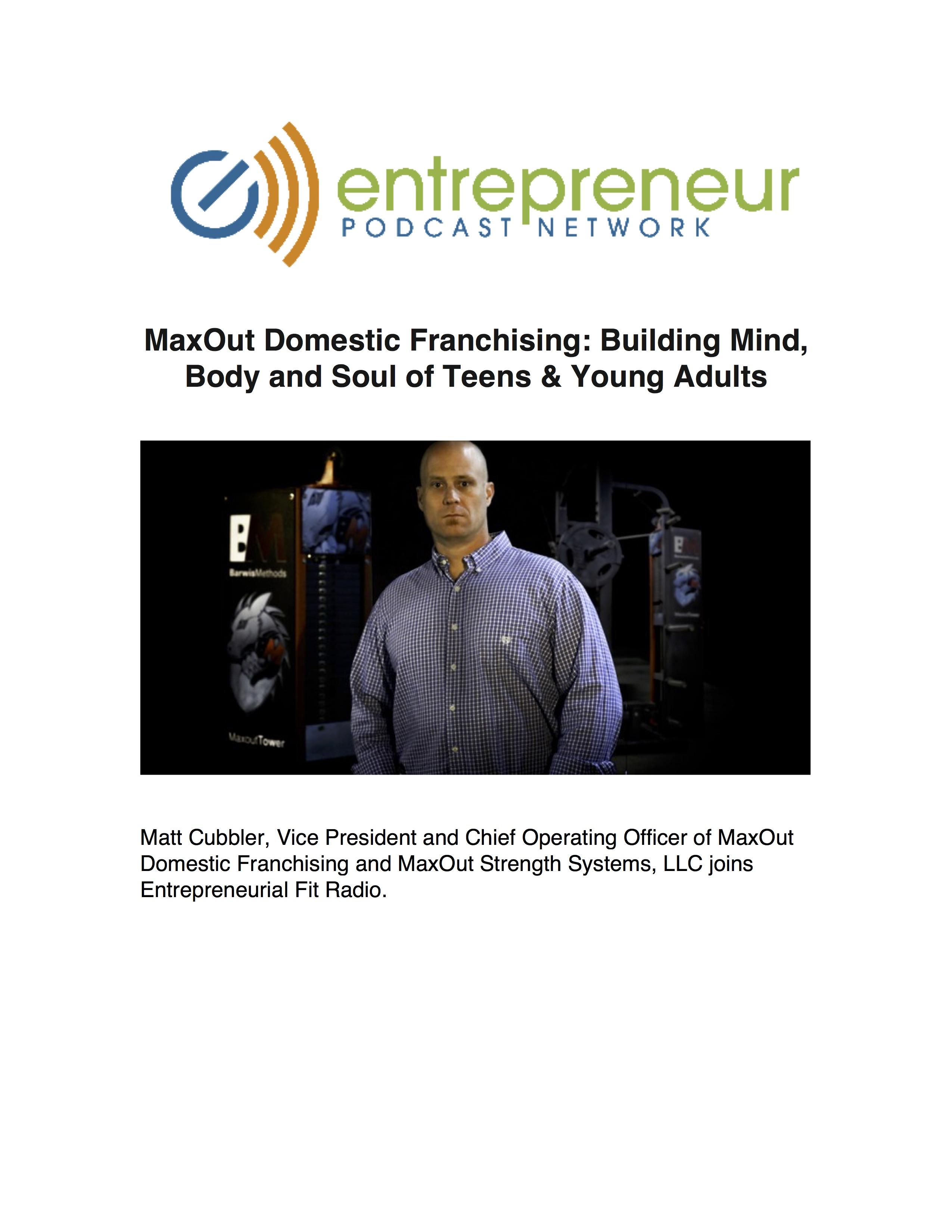 MaxOut Entrepreneur Fit
