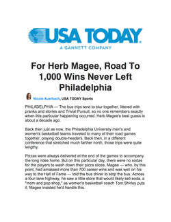 USA Today Herb Magee