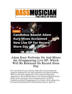 Bass Musician Magazine Kury