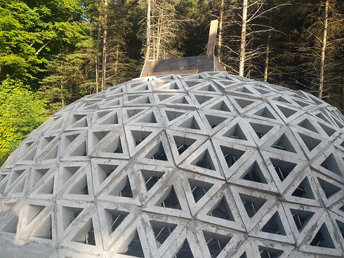 Dome Block for fire safe home construction