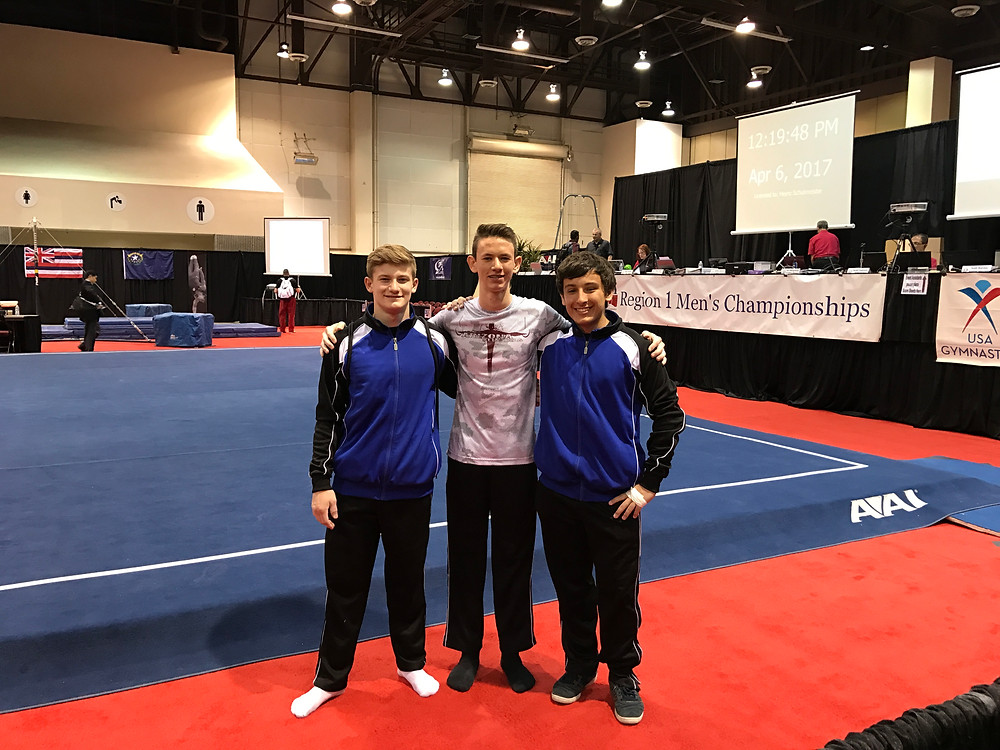 Jacob, David, Preston at Regionals 2017