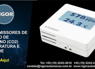 TRANSMISSORES DE DIÓXIDO DE  CARBONO (CO2) TEMPERATURA E  UMIDADE