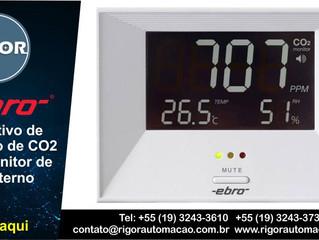 Dispositivo de medição de CO2 com monitor de clima interno RM 100