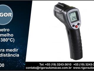Termômetro Infravermelho (-50 a + 380°C) Ideal para medir febre à distância   R$ 190,00