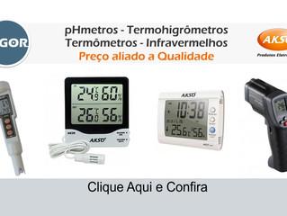 pHmetros - Termohigrômetros  Termômetros - Infravermelhos  Preço aliado a Qualidade