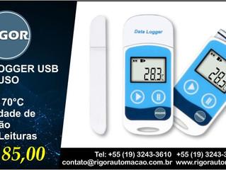 DATALOGGER USB MULTI USO -30°C a 70°C Capacidade de Gravação  32.000 Leituras R$ 185,00