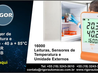 Datalogger de Temperatura e Umidade - 40 a + 85°C 10-99%UR Cabo USB