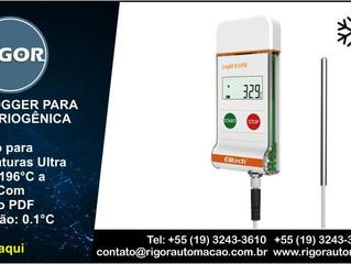 DATALOGGER PARA ÁREA CRIOGÊNICA Multiuso para Temperaturas Ultra Baixas -196°C a +150°C