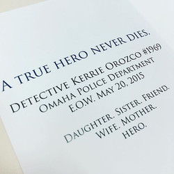 Omaha Police Department Stationary