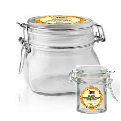 Sweet Orange Dead Sea Salt Body Scrub (2.5oz/$16.50)(17oz/$60)