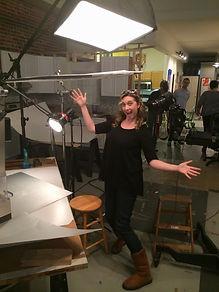 Hand Model on set (Ashly Covington)