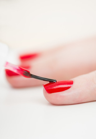 Red Nails Hand Modeling by Ashly Covington