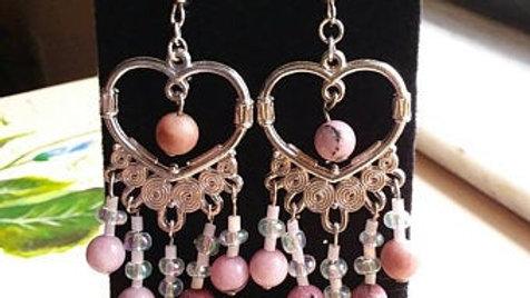 Rhodochrosite Dangle earrings