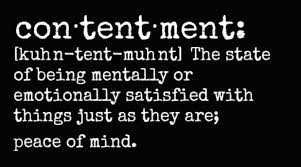 Word of the Year: Contentment