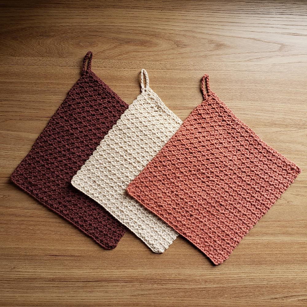 toalhas de crochê, panos de prato de crochê
