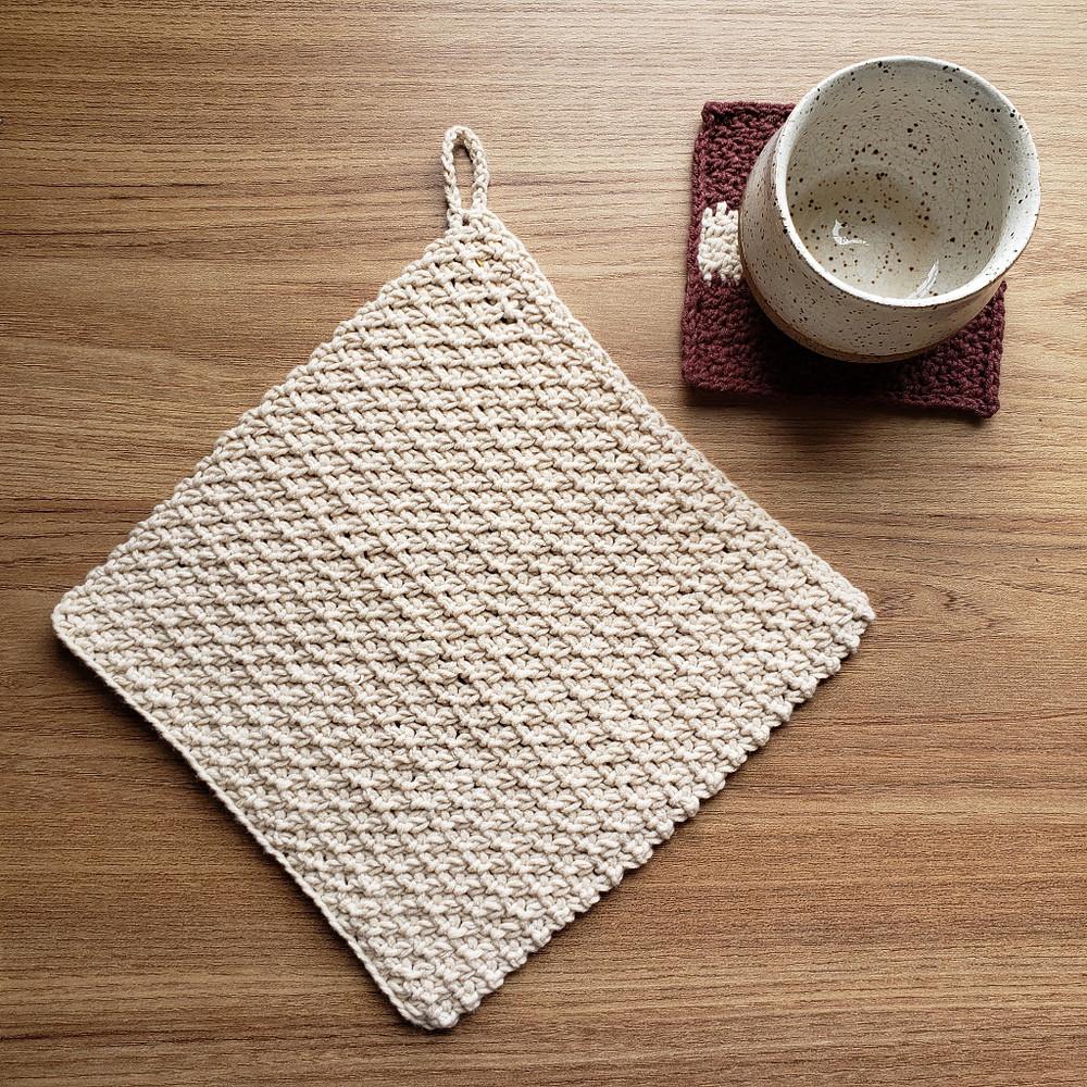 toalha de crochê, pano de prato de crochê