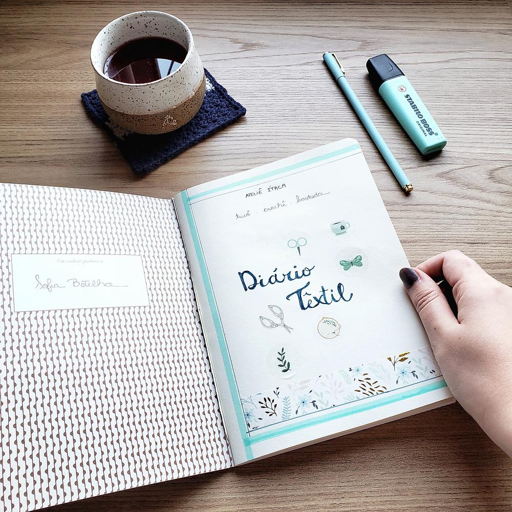 diário têxtil ou knitting journal, uma escrita terapêutica