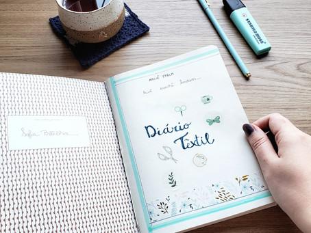 Meu primeiro diário têxtil
