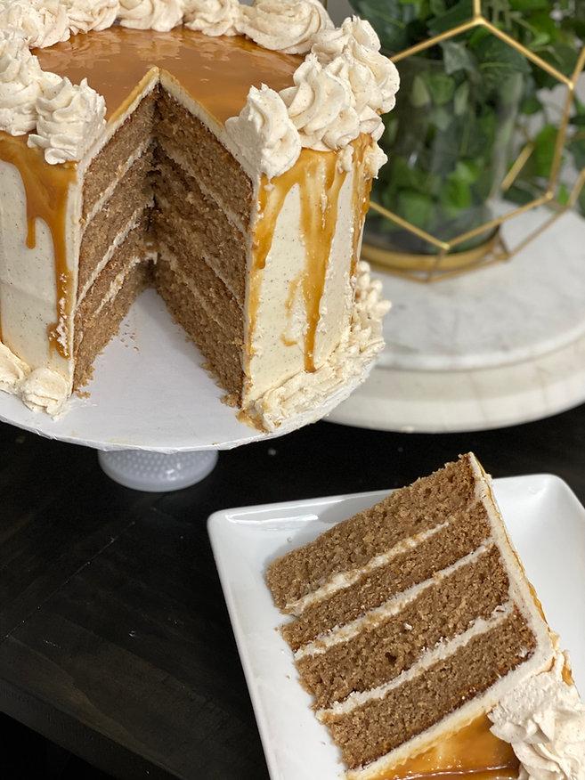 Sweet by Simone Apple Caramel Cake Slice