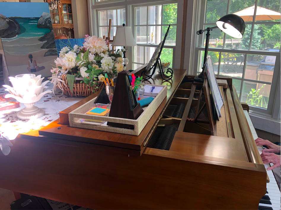 piano party june 2019 piano with flowers