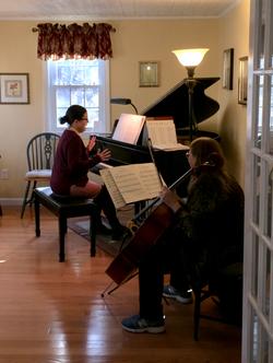 Cellist, Holidays 2016 Piano Social