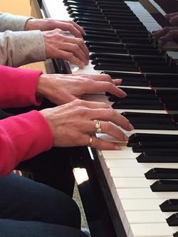 Duet Hands, Piano Keyboard