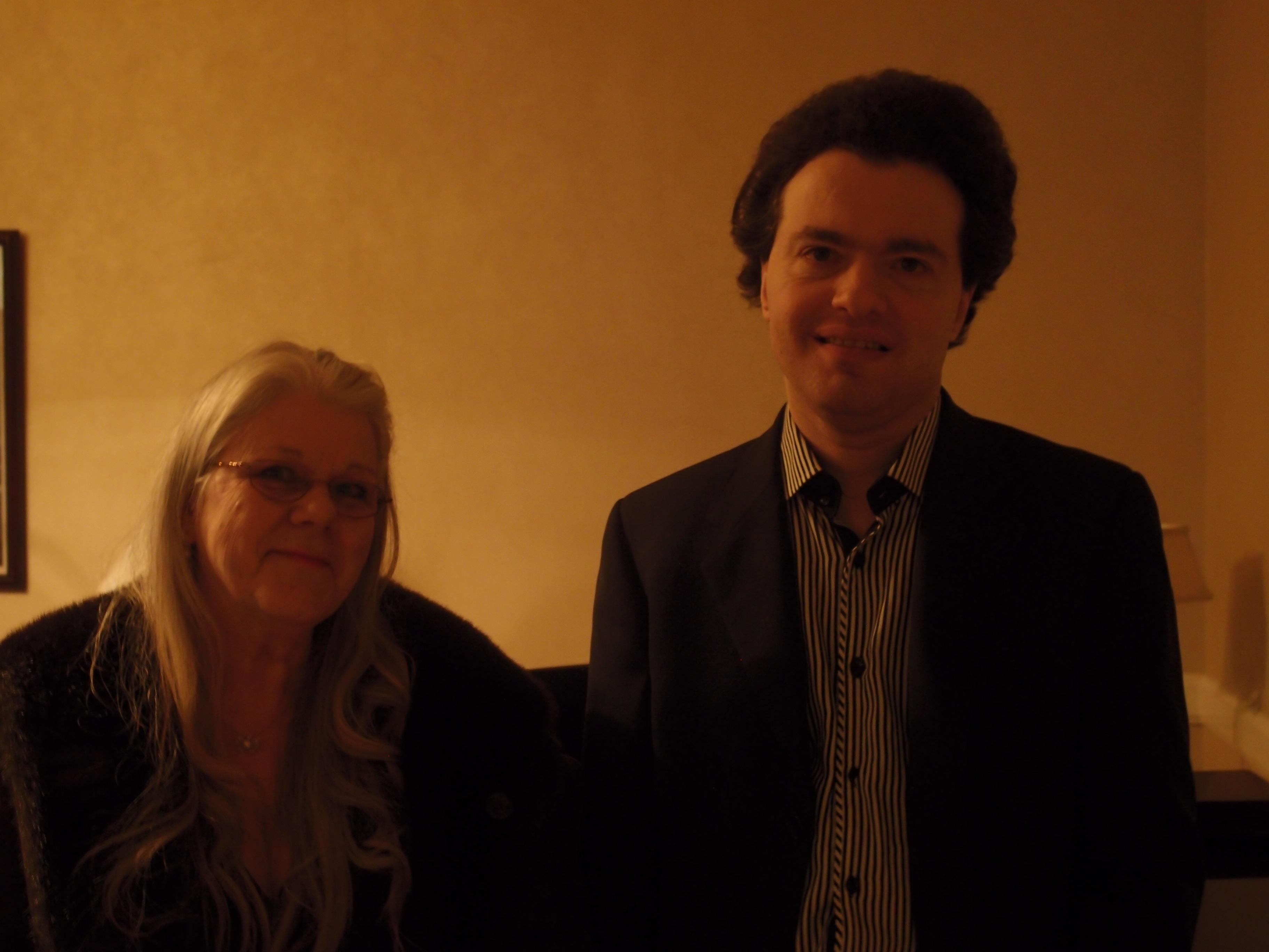 Kathy with Evgeny Kissin