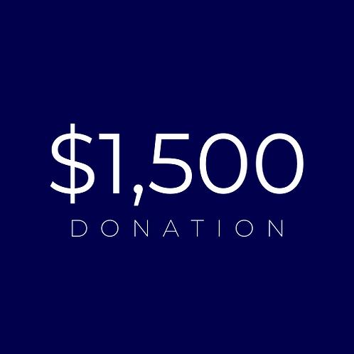 $1500 Donation