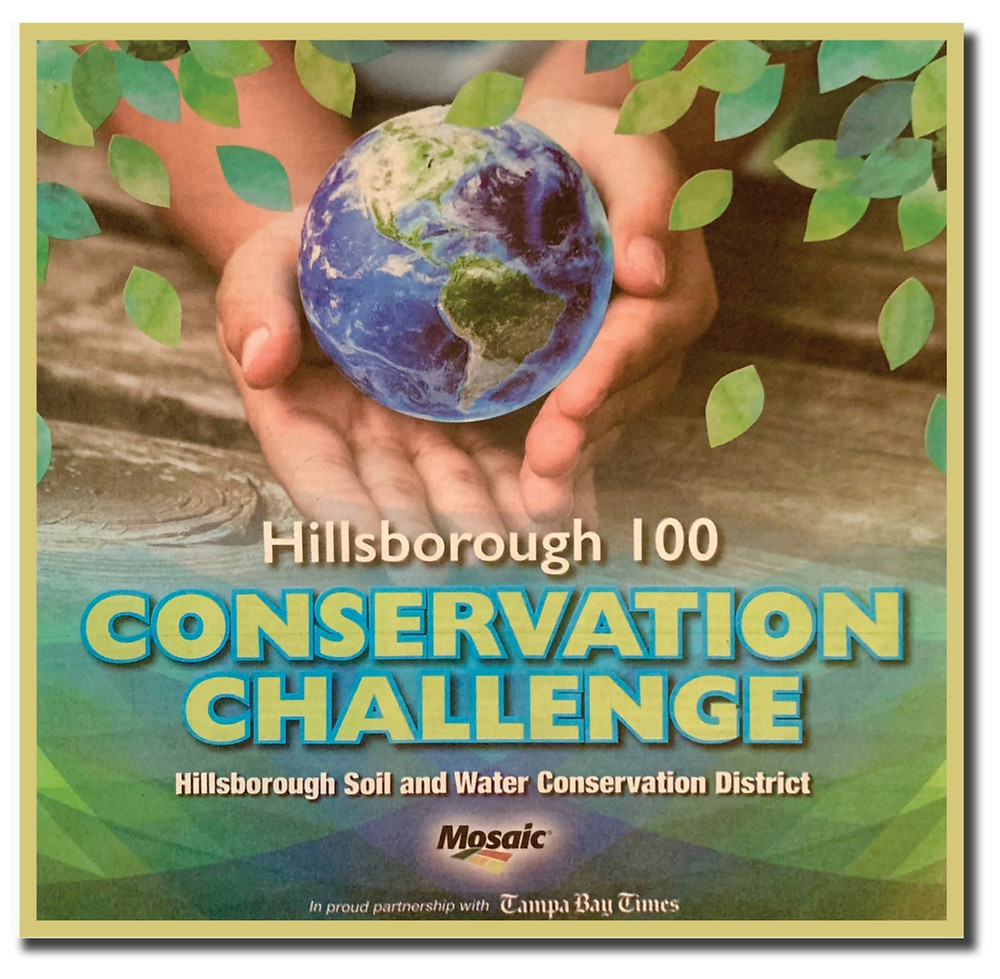Tabloid cover for the 2021 Hillsborough Conservation Challenge tabloid.