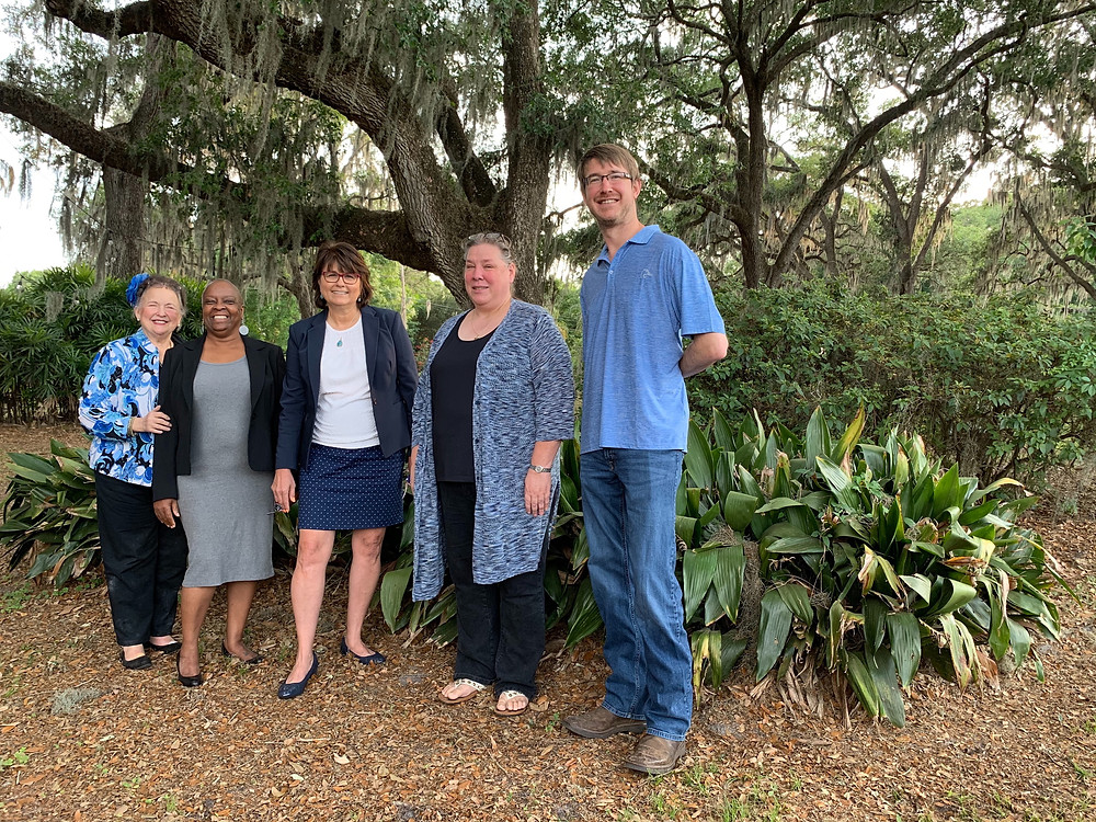 From left, Betty Jo Tompkins, executive director of the Hillsborough Soil and Water Conservation District, left, with members of the HSWCD board of supervisors, Sonja Brookins (treasurer, Seat 4), Karen Cox Jaroch (Seat 2), Kathy Eckdahl (chair, Seat 1) and Andrew Brooks (vice-chair, Seat 5).