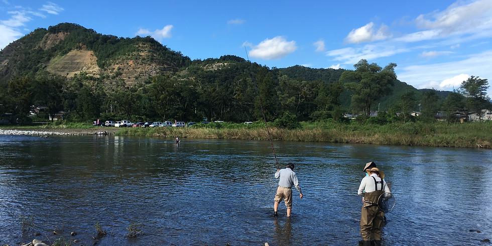 清流根尾川で鮎の友釣り体験 第2回目(満員御礼 受付終了)