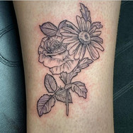 dainty black and grey flowers