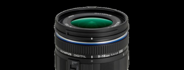 Olympus M.Zuiko Digital ED 9-18mm 1:4.0-5.6 schwarz Objektiv
