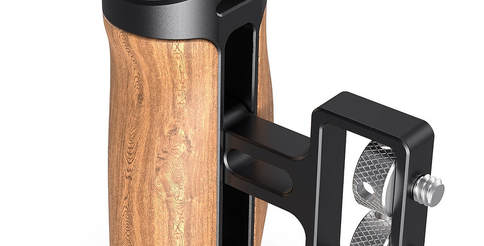 "SmallRig 2913 Wooden Mini Side Handle Mini-Holzgriff, 1/4""-20 Screws"