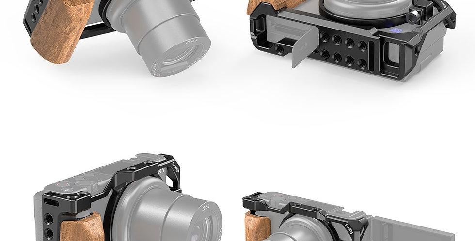 SmallRig 2937 Cage mit Holzgriff f. Sony ZV1 Kamera