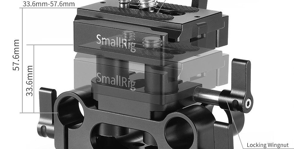 SmallRig 2272 Universale Bodenplatte mit 15 mm Rod Support-System