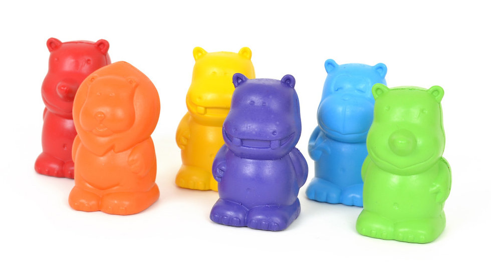5 X Zoo crew Crayons Pack 6 Early Start