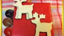 wooden shapes Reindeer