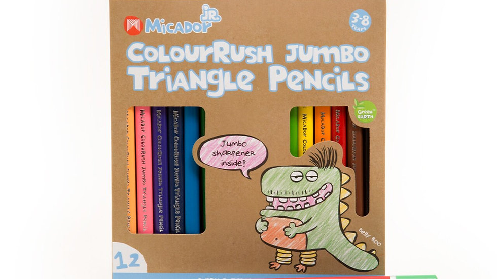ColourRush Jumbo Triangle Pencils FSC 100