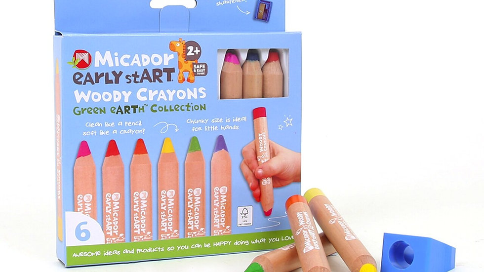 Woody Crayons FSC 100 Pack 6 early start