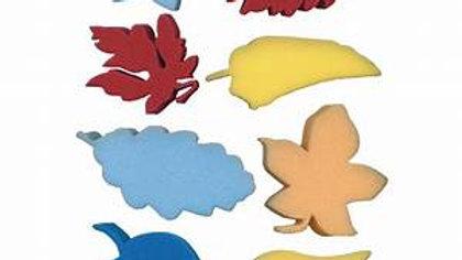 Foam Shape Leaves Sponge