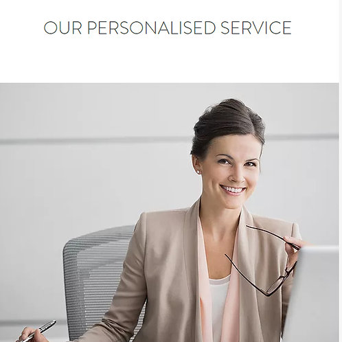 TWO Categories Personalised Service