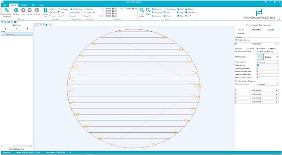 TLS Software Screenshot (circle raster).