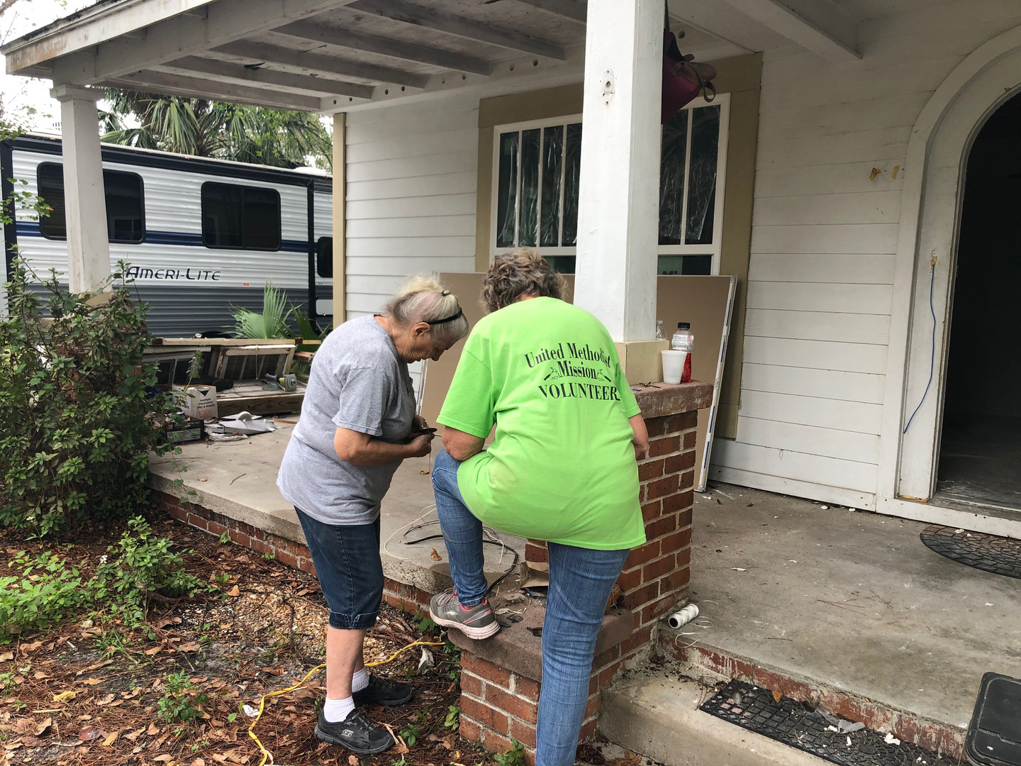 Volunteers in Mission in the area assisting UMCOR with the community