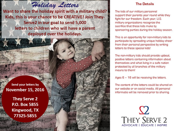 They Serve 2 Holiday Letter Campaign
