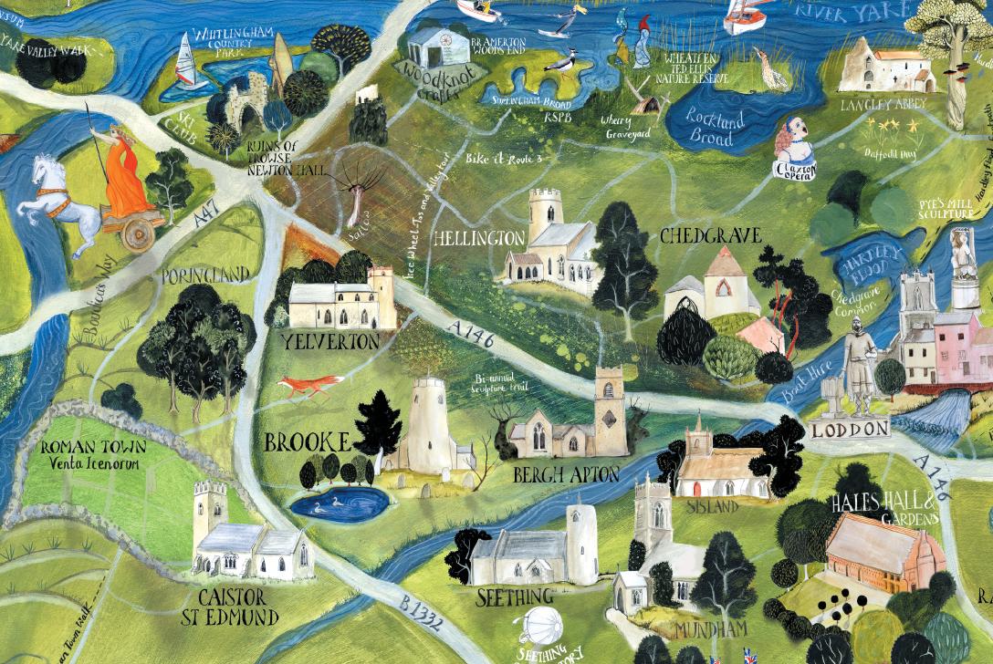 Southern Broads Map close-up