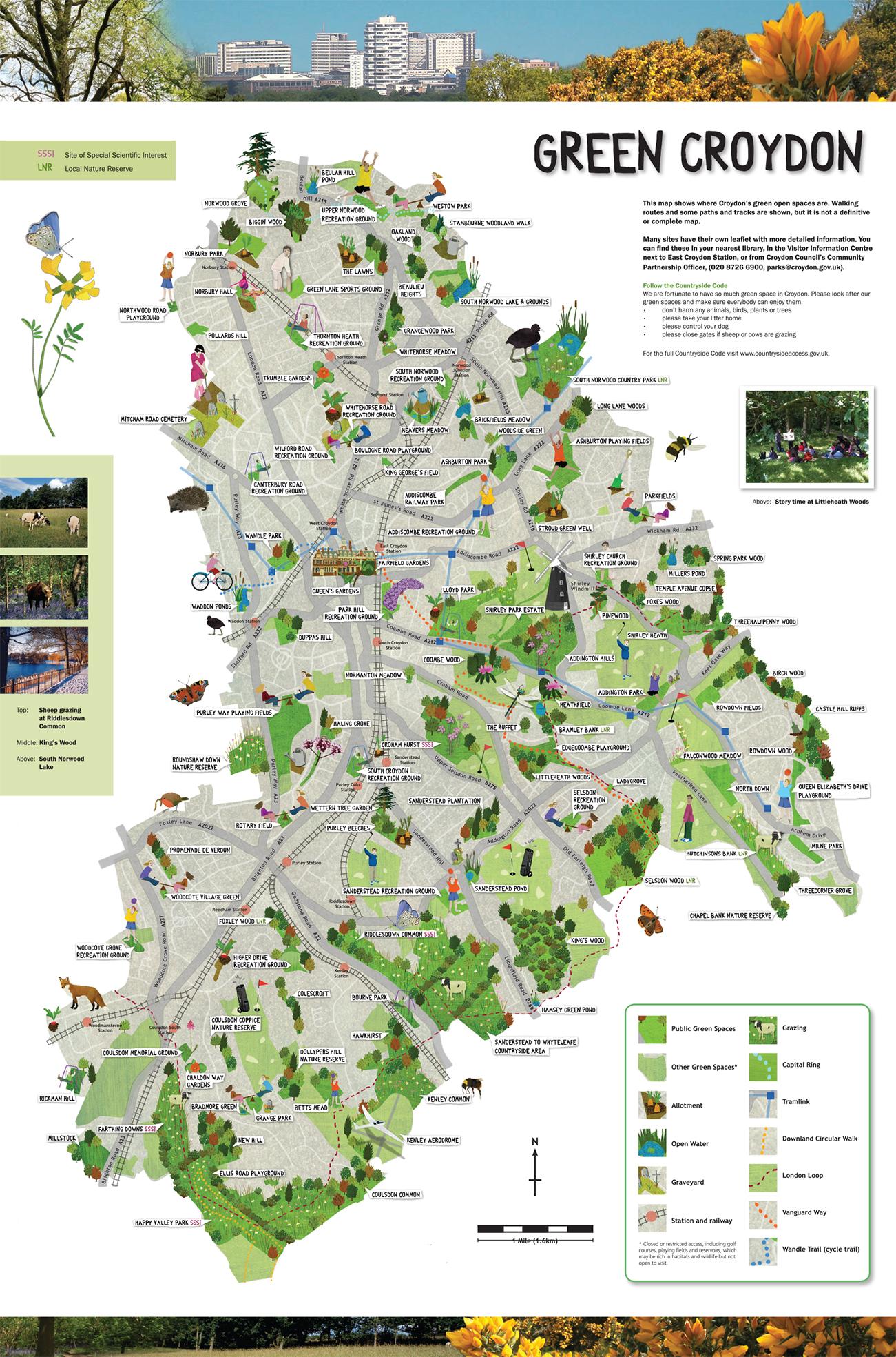 Green Croydon Map